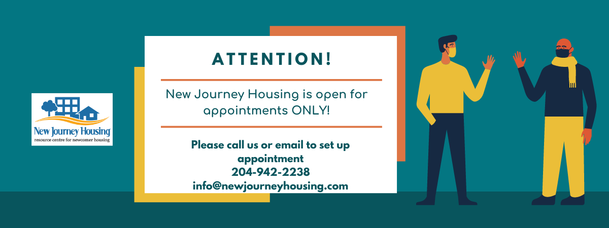 New Journey Housing is open for appointments ONLY!